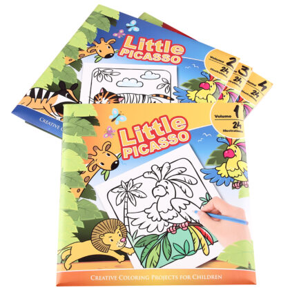 Little Picasso (4 Volumes)  Coloring Books (For Kids)